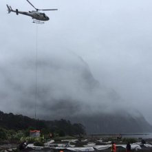 Alien: Covenant - un elicottero in volo sul Fiordland National Park