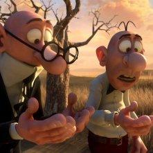 Mortadello e Polpetta contro Jimmy lo Sguercio: un'immagine tratta dal film d'animazione