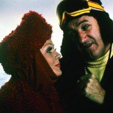 Superman II: Gene Hackman e Valerie Perrine in una scena