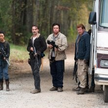 The Walking Dead: Sonequa Martin-Green, Andrew Lincoln, Josh McDermitt e Michael Cudlitz in L'ultimo giorno sulla Terra