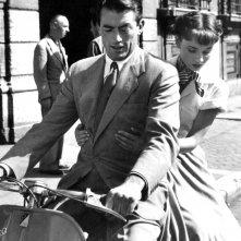 Gregory Pecl e Audrey Hepburn in Vacanze romane