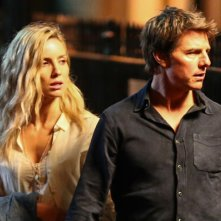 The Mummy: Tom Cruise e Annabelle Wallis durante un ciak