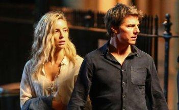 The Mummy: Tom Cruise e Annabelle Wallis durante un ciak