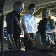 Shadowhunters: Dominic Sherwood, Matthew Daddario, Emeraude Toubie e Katherine McNamara nella puntata Stella del mattino