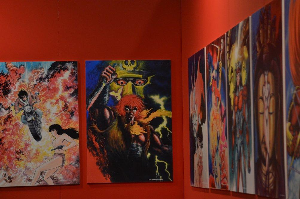Romics 2016: un immagine della mostra dedicata alle opere di Go Nagai