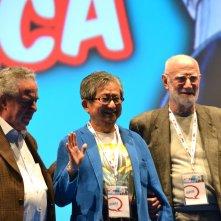 Romics 2016: Go Nagai con Luigi Albertelli e Vince Tempera