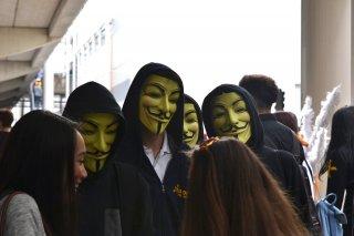 Romics 2016: Maschere di V per vendetta