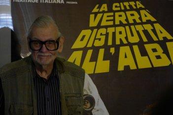 Lucca Film Festival: George Romero davanti al poster italiano di The Crazies