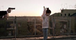 Fiore: Daphne Scoccia in un momento critico del film