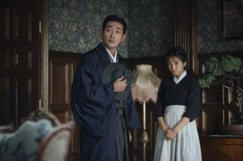 The Handmaiden: Tae Ri Kim e Ha Jung-woo in una scena del film