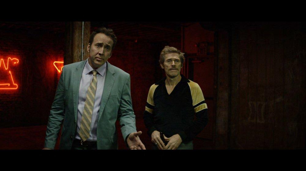 Dog Eat Dog: Nicolas Cage e Willem Dafoe in una scena del film