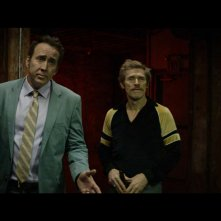 Dog Eat Dog: Nicolas Cage e Willem Dafoe in una scena del film