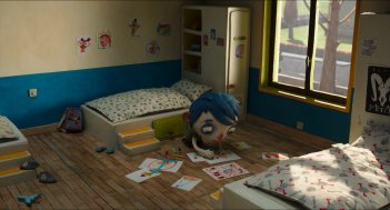 Ma vie de courgette: una scena del film d'animazione
