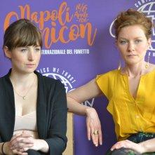 Comicon 2016: Kate Lyn Sheil e Wrenn Schmidt durante le interviste per Outcast