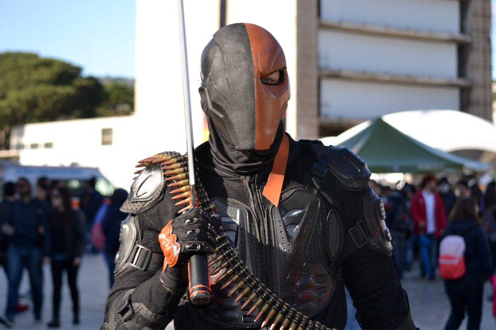 Comicon 2016: un cosplayer durante l'ultima giornata della manifestazione