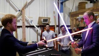 I Principi Harry e William sul set di Star Wars: ep. VIII