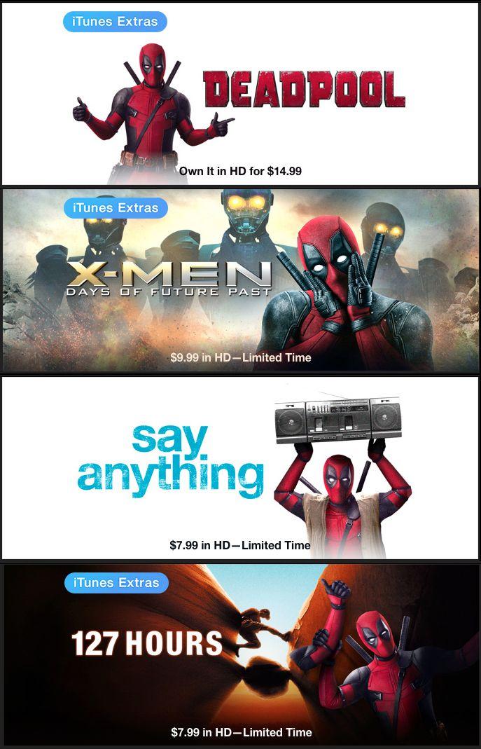 Deadpool: un'immagine dell'invasione su iTunes