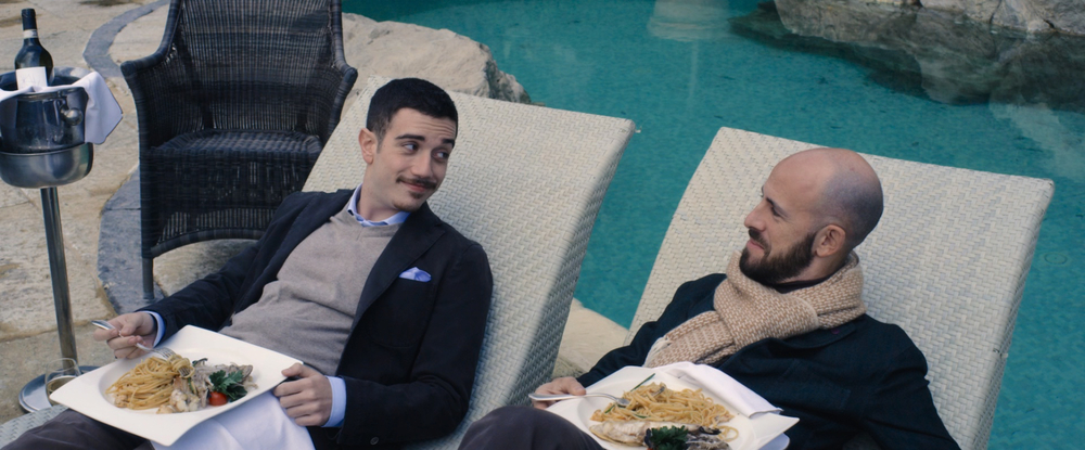 La buona uscita: Marco Cavalli e Andrea Cioffi in una scena del film