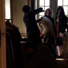 Last Days of Louis XIV: Jean-Pierre Leaud sul set del film