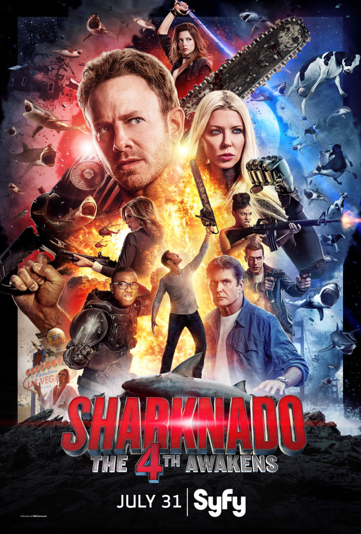 Sharknado The 4th Awakens: il poster del film tv