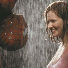 Tobey Maguire e Kirten Dunst nel primo capitolo Spider-man