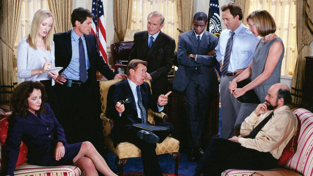 West Wing: il presidente Bartlet e i membri del suo staff