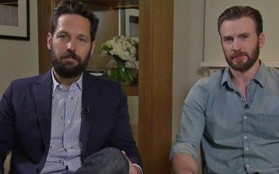 """Chris Evans e Paul Rudd, protagonisti di Civil War: """"Capitan America in realtà è un insicuro"""""""