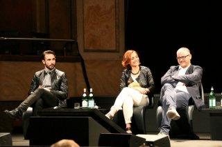 Gomorra 2: Marco Palvetti, Cristiana Dell'Anna e Fortunato Cerlino alla conferenza stampa