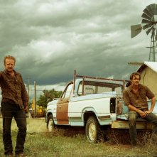 Hell or High Water: Chris Pine e Ben Foster in una scena del film