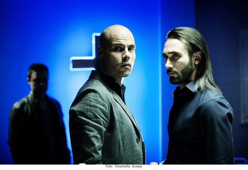 Gomorra: gli attori Marco D'Amore e Marco Palvetti