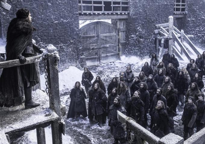 Il trono di spade: Jon Snow parla ai Guardiani della Notte in Oathbreaker