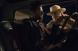 Preacher: Dominic Cooper e W. Earl Brown in una scena