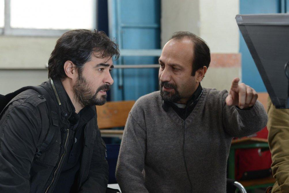 The Salesman: il regista Asghar Farhadi e Shahab Hosseini sul set del film