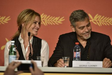 Money Monster: Heroge Clooney e Julia Roberts durante la conferenza
