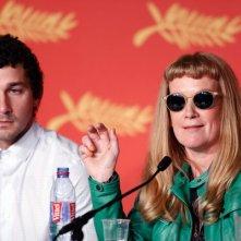 American Honey: Shia LaBeouf e Andrea Arnold durante la conferenza stampa