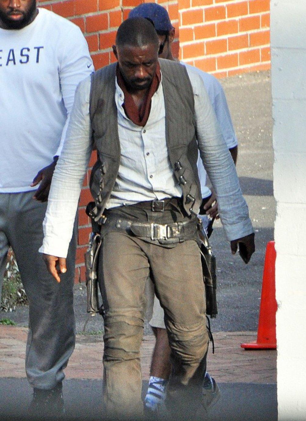 Idris Elba sul set di The Dark Tower