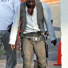 Idris Elba sul set di The Dark Tower