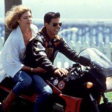 Tom Cruise con Kelly McGillis in Top Gun