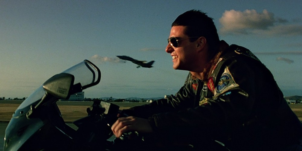 Tom Cruise in una scena di Top Gun