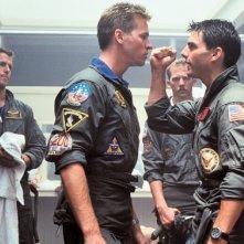 Tom Cruise con Val Kilmer in Top Gun