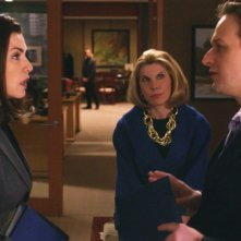 The Good Wife: Julianna Magulies un momento dell'episodio Contromosse