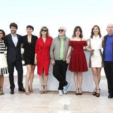 Julieta: Pedro Almodovar circondato dal cast al completo del suo film a Cannes