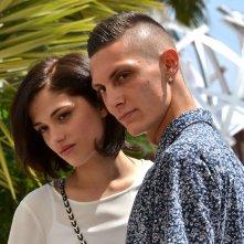 Cannes 2016: Josciua Algeri e Daphne Scoccia in uno scatto al photocall di Fiore