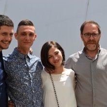 Cannes 2016: Claudio Giovannes, Josciua Algeri, Daphne Scoccia e Valerio Mastandrea al photocall di Fiore