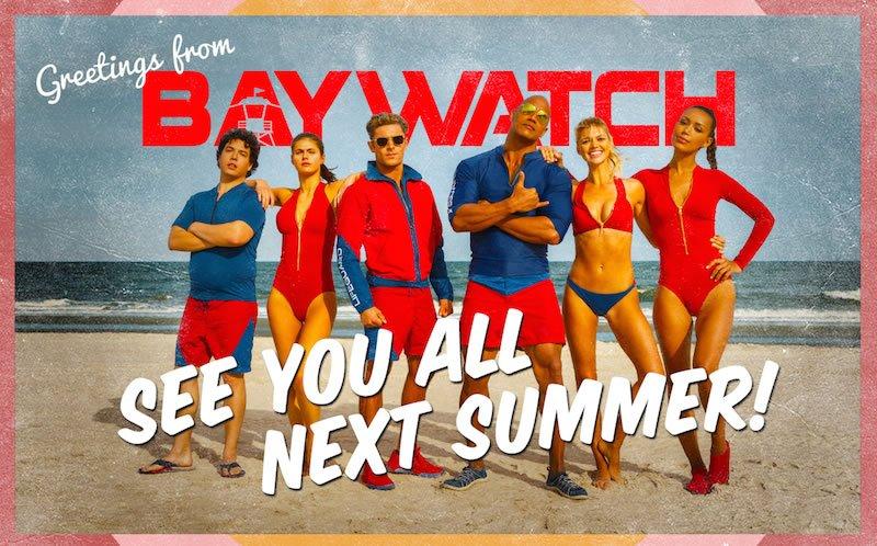 Baywatch: una cartolina preannuncia l'arrivo del film tra un anno