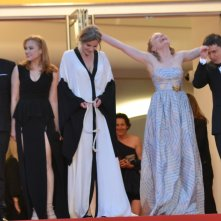 Cannes 2016: Cristian Mungiu, Maria Drägus, Malina Manovici, Rares Andrici, Adrian Titieni sul red carper per Bacalaureat