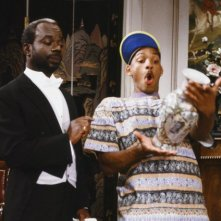 Joseph Marcell e Will Smith in Willy il principe di bel air