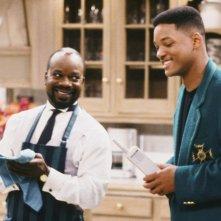 Will Smith con Joseph Marcell in Willy il principe di Bel Air