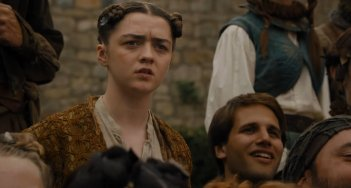 Il trono di spade: Maisie Williams nella puntata The Door