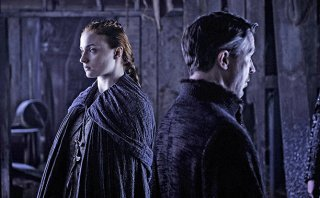 Il trono di spade: Sophie Turner e Aidan Gillen in The Door